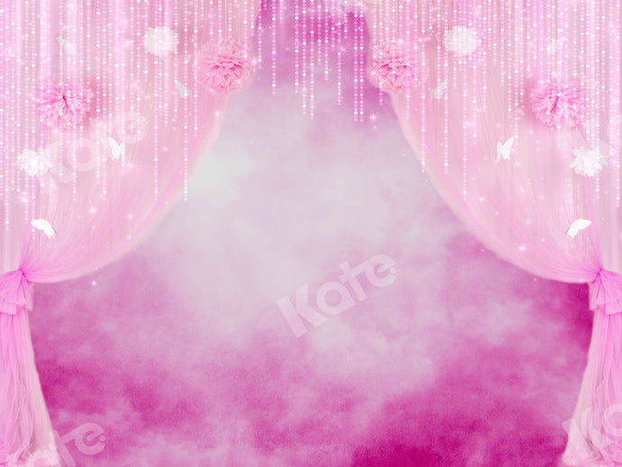 Kate Cake Smash Girly Pink Curtain Backdrops Designed by Ava Lee