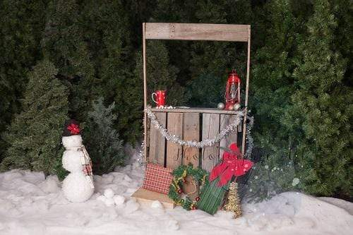 Kate Holiday Snow Christmas Decorations Backdrop for Photography Designed by Jenna Onyia