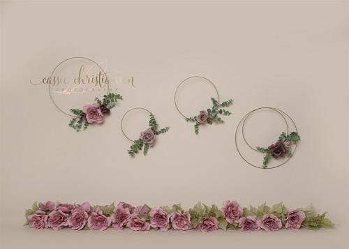 Kate Art Color Garland Rose Floral Backdrop for Photography Designed by Cassie Christiansen Photography