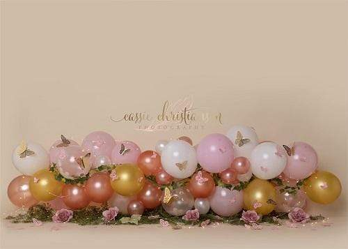Kate Balloons with Butterfly Backdrop for Photography Designed by Cassie Christiansen Photography