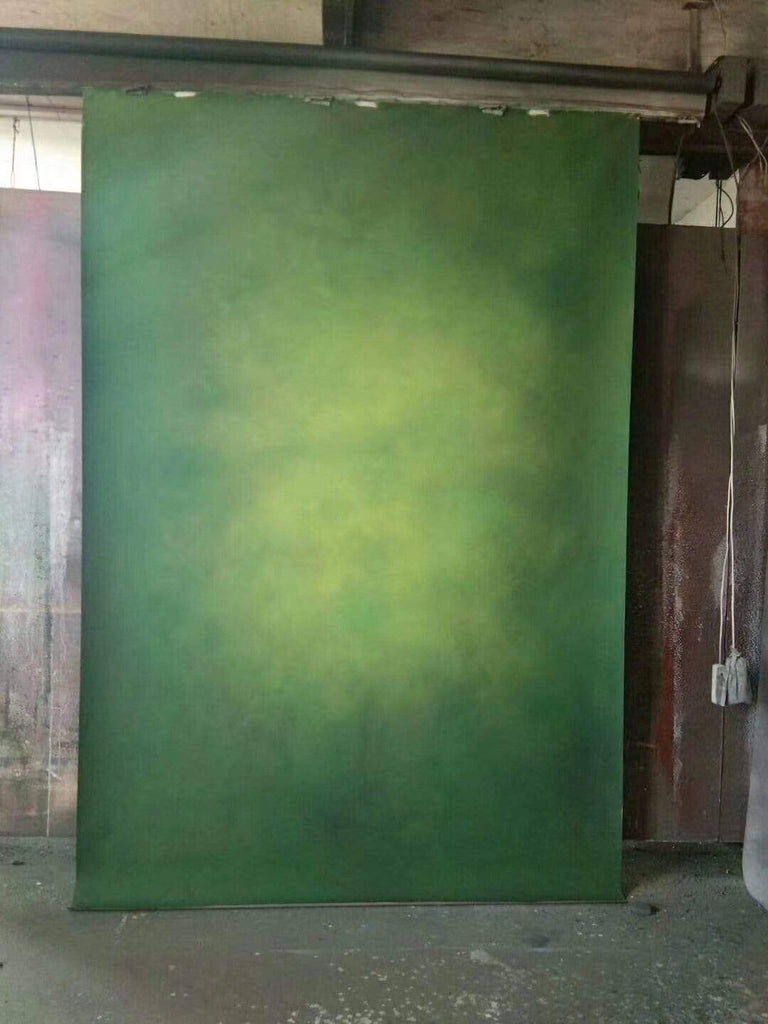 Kate Foggy Green Abstract Gradient Texture Spray Painted Backdrop
