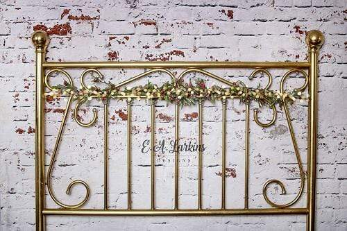 Kate Christmas Brass Headboard Backdrop for Photography Designed By Erin Larkins