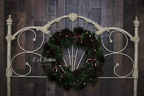 Kate Christmas Headboard Wreath Lights Backdrop Designed By Erin Larkins