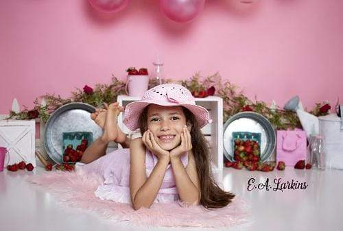Load image into Gallery viewer, Kate Strawberry Fields Children Backdrop for Photography Designed By Erin Larkins