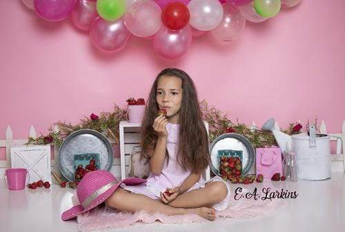 Kate Strawberry Fields Children Backdrop for Photography Designed By Erin Larkins