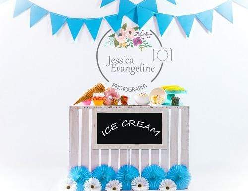 Kate Summer Sweet Ice Cream Children Backdrop for Photography Designed By Jessica Evangeline photography
