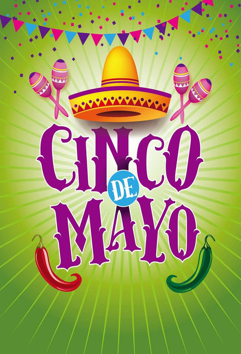 Kate May 5 Fiesta Party Backdrop Cinco De Mayo Carnival Green Background