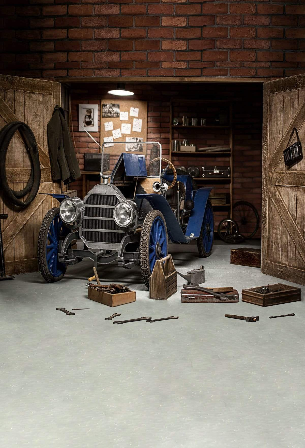 Load image into Gallery viewer, Kate Garage Car Workshop Backdrops for Boy