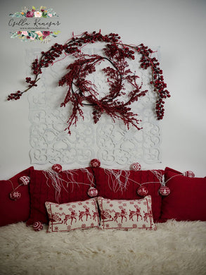 Kate Headboard Red Backdrop Designed by Csilla Kancsar