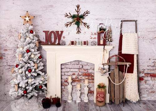 Kate Christmas Red Holiday Room Backdrop Designed By Pine Park Collection