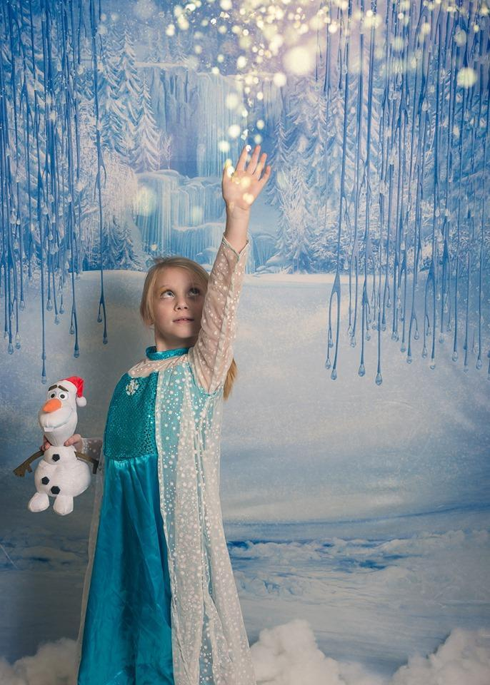 Load image into Gallery viewer, Kate Winter Wonderland Snow Backdrop Christmas Backdrop