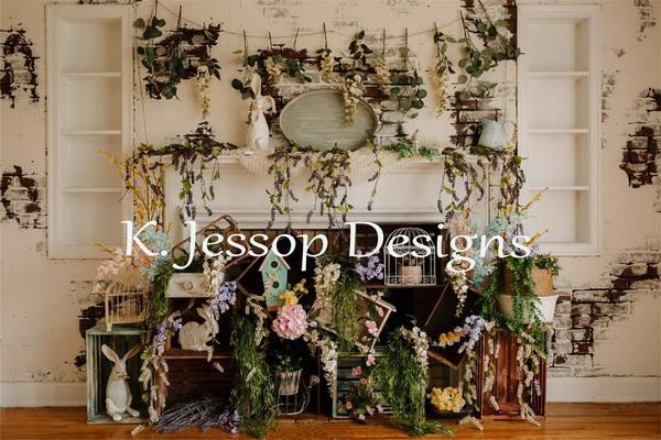 Kate Bunny Bloom Backdrop for Photography Designed by Keerstan Jessop