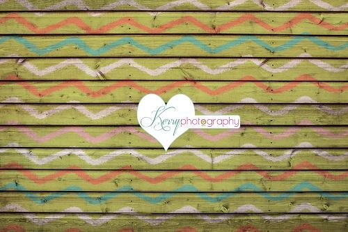 Kate Colourful Paint Fence Wall Orange Blue Backdrop for Photography Designed by Kerry Anderson