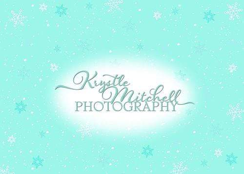 Kate Blue Snowflakes Backdrop Designed By Krystle Mitchell Photography