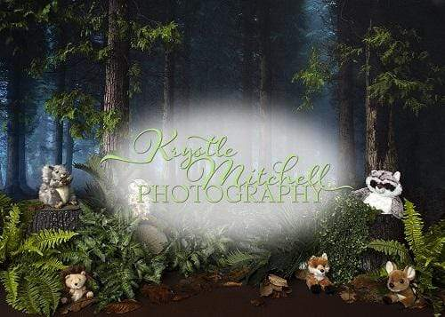 Kate Woodland Creatures Forest Backdrop Designed By Krystle Mitchell Photography