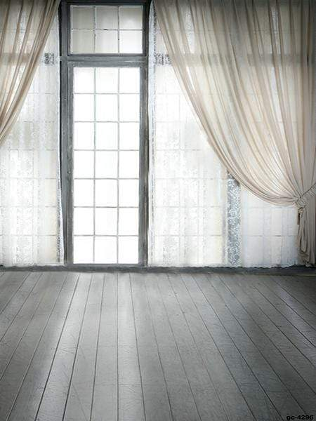 Load image into Gallery viewer, Katebackdrop£ºKate Window indoor with White Curtain Backdrop