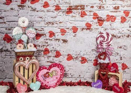 Kate Sweet Candy Valentine's Day Backdrop for Photography Designed by Lisa Olson