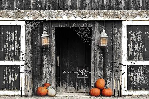 Kate Spooky Halloween Barn Backdrop Designed by Mandy Ringe Photography