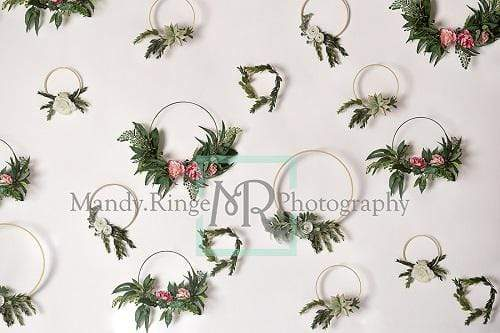 Kate Floral Hoop Wall Spring/Easter Backdrop Designed By Mandy Ringe Photography