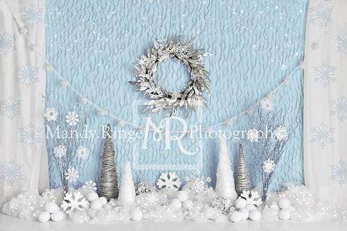 Load image into Gallery viewer, Kate Winter Onederland Snowflake Backdrop Designed By Mandy Ringe Photography