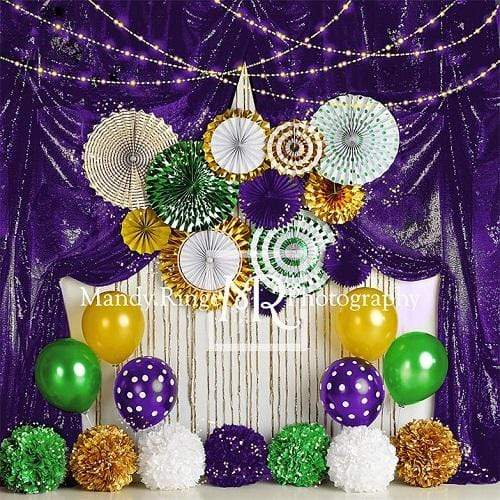 Kate Mardi Gras Celebration Purple Backdrop Designed By Mandy Ringe Photography