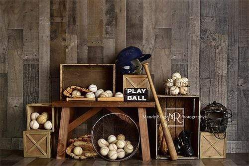 Load image into Gallery viewer, Kate Vintage Baseball Sports Backdrop Designed By Mandy Ringe Photography