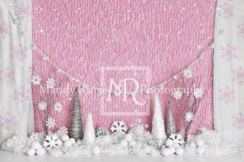 Kate Pink Winter Onederland Girly Backdrop Designed By Mandy Ringe Photography