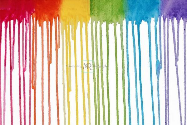 Kate Rainbow Paint Drips Backdrop Designed by Mandy Ringe Photography