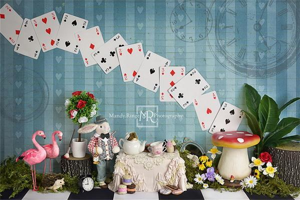 Kate Tea Party with Alice Backdrop Designed by Mandy Ringe Photography
