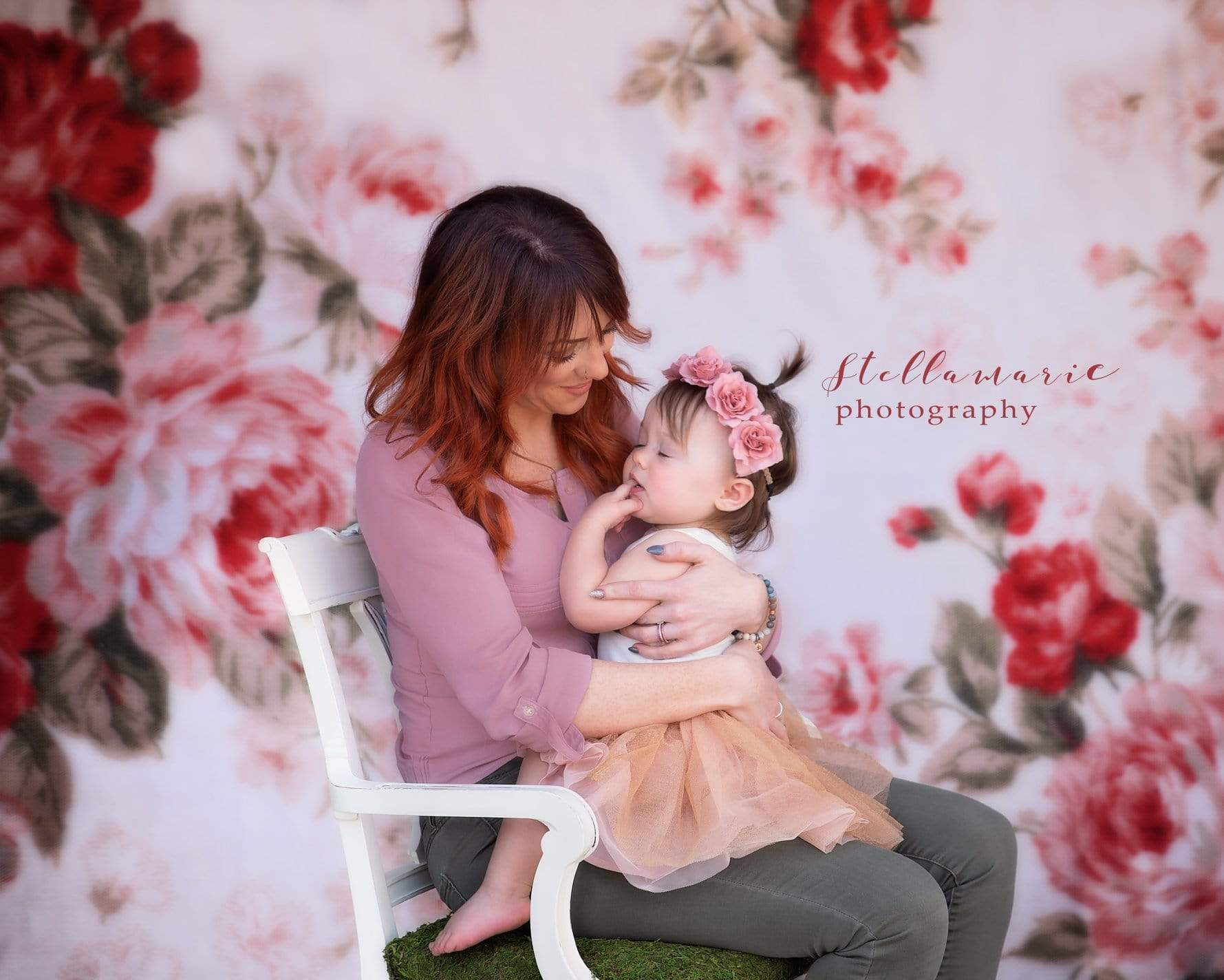 Load image into Gallery viewer, Kate Pattern Flower Backdrop for Photography Style