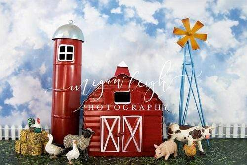Kate Spring Barnyard Farm Backdrop Designed by Megan Leigh Photography