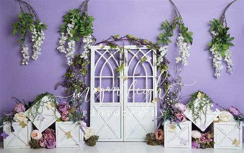 Kate Spring Purple Floral Backdrop Designed by Megan Leigh Photography