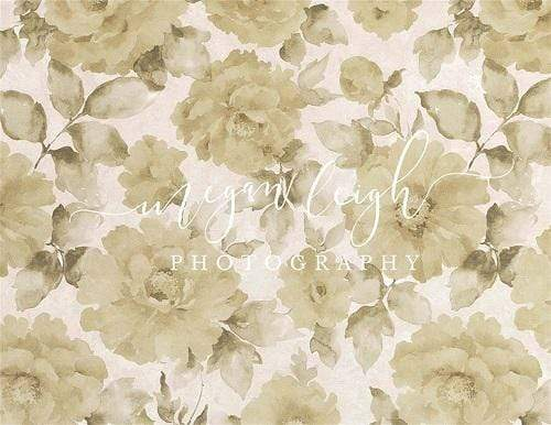 Kate Fine Art Beige Flower Backdrop Designed by Megan Leigh Photography