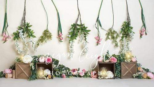 Load image into Gallery viewer, Kate Spring Floral Decoration Backdrop Designed by Megan Leigh Photography