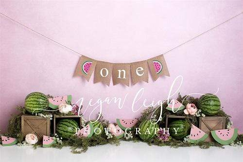 Load image into Gallery viewer, Kate 1st Birthday Watermelon Decoration Backdrop Designed by Megan Leigh Photography