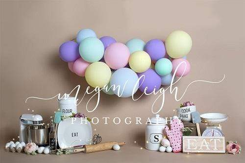 Load image into Gallery viewer, Kate Birthday Cake Smash Baker Children Backdrop Designed by Megan Leigh Photography