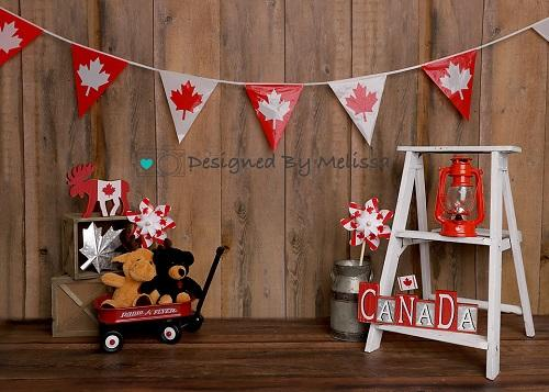 Kate Canada Day Dark Wood Backdrop Designed by Melissa King