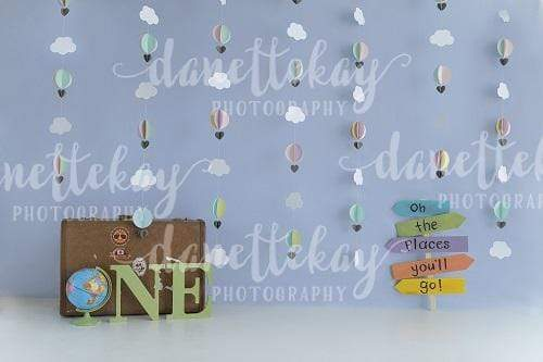 Kate 1st Birthday Children Travel Backdrop for Photography Designed by Danette Kay Photography
