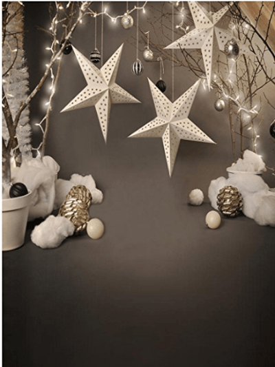 Load image into Gallery viewer, Katebackdrop£ºKate Children Grey Star Photography Backdrops for Christmas photos deco