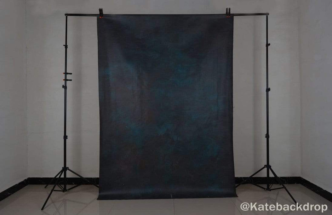 Kate Abstract Texture Dark Tirquise Color Spray Painted Backdrop