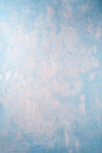 Kate Abstract Blue and White Textured Hand Painted Backdrops Canvas