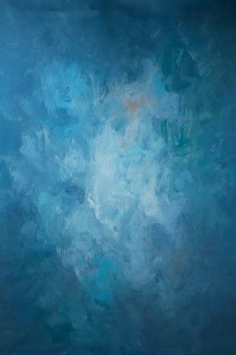 Kate Abstract Dark Blue Strong Textured Hand Painted Backdrops Canvas