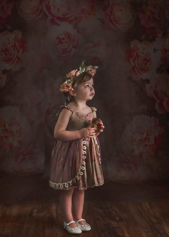 Load image into Gallery viewer, Kate Fine Art Retro Flowers Backdrop Designed By JS Photography