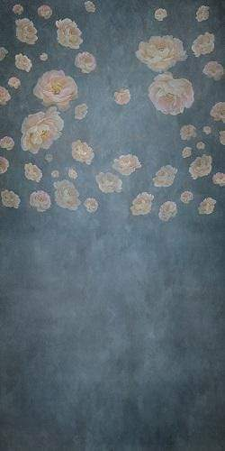 Load image into Gallery viewer, Kate Retro Floral Fine Art Backdrop Designed By JS Photography