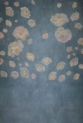 Kate Retro Floral Fine Art Backdrop Designed By JS Photography