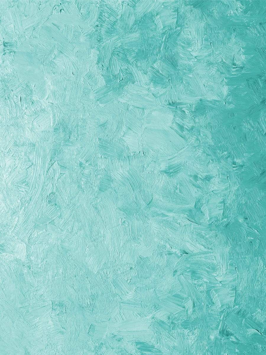Kate Medium Turquoise Oil Painting Abstract Backdrop for Photography Designed by JFCC