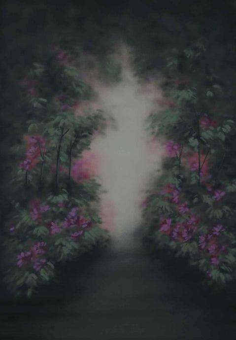 Kate Hand Painted Flowers Fantasy Forest Spray Painted Backdrops