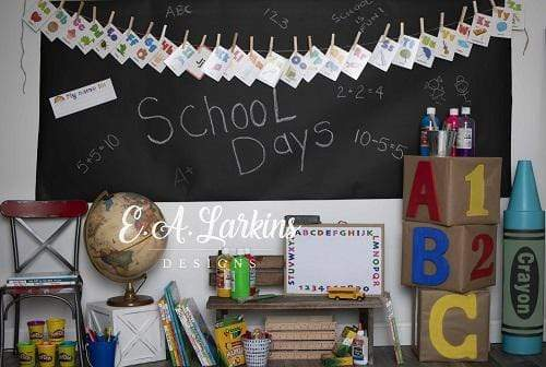 Kate Back to School Days Backdrop for Children Photography Designed By Erin Larkins