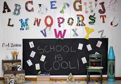 Kate Back to School Cool Backdrop for Children Photography Designed By Erin Larkins
