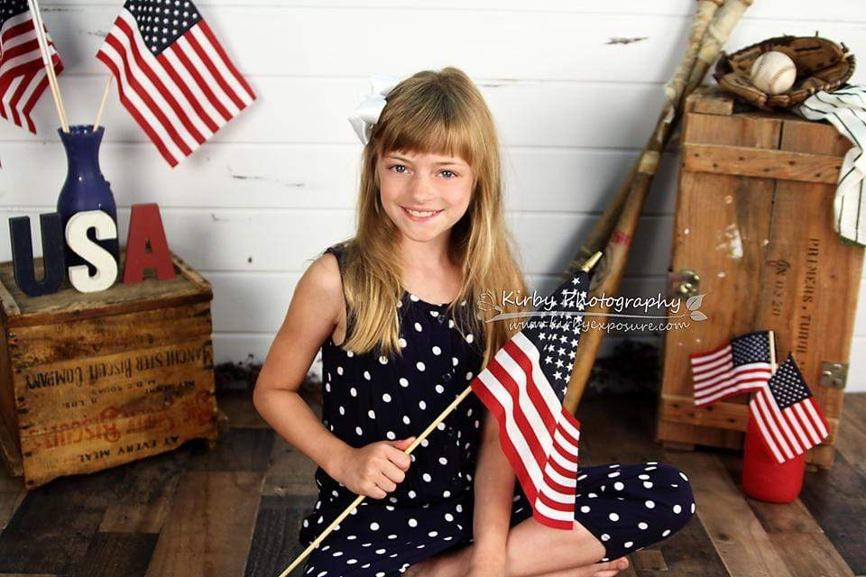 Kate Stars and Stripes Forever July of 4th Backdrop designed by Arica Kirby